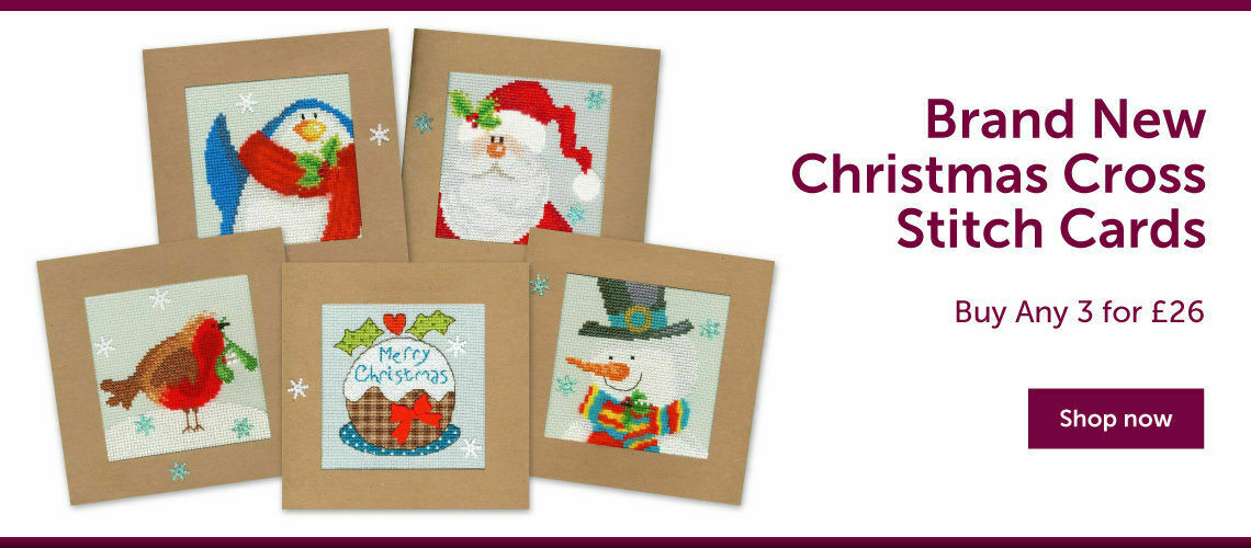 New Christmas Cross Stitch Cards Offer - Buy Any 3 for £26
