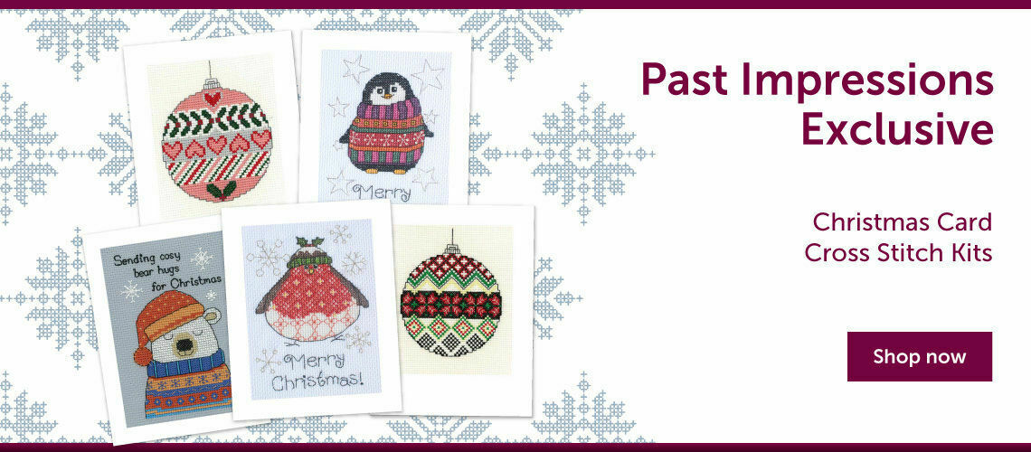Past Impressions Exclusive Christmas Card Cross Stitch Kits