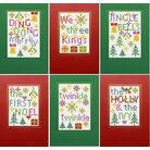 Christmas Carols 2 - Set Of 6 Cross Stitch Card Kits