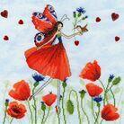 Summer Meadow Fairy Cross Stitch Kit