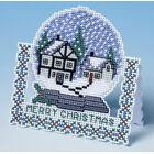 Snow Globe Christmas Card 3D Cross Stitch Kit
