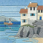 Headland Cottages Long Stitch Kit