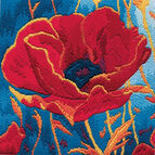 Poppy Head Long Stitch Kit