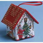 Dressing the Tree Santa House 3D Cross Stitch Kit