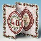 Ruby Anniversary Card 3D Cross Stitch Kit