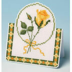 Yellow Rose Card 3D Cross Stitch Kit