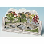 English Village Card 3D Cross Stitch Kit