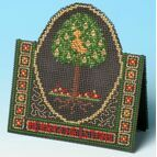 Pear Tree Card 3D Cross Stitch Kit