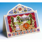 Pantomime Card 3D Cross Stitch Kit