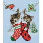Christmas Kittens Cross Stitch Kit