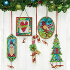 Jingle Bell Ornaments Cross Stitch Kit (Set of 5)