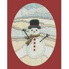 Frosty Snowman Long Stitch Christmas Card Kit