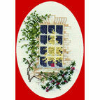 Christmas Window Cross Stitch Card Kit