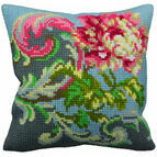 Antique Rose Right Cushion Panel Cross Stitch Kit