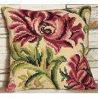 Wild Rose Left Cushion Panel Cross Stitch Kit