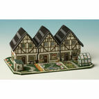 Cottage Row 3D Cross Stitch Kit