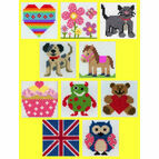 Anchor 1st Pack Of 10 Mixed Cross Stitch Kits For Kids