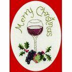 Christmas Cheer Christmas Card Cross Stitch Kit
