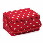 Medium Sewing Basket - Red Spot