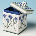Cornflower Box 3D Cross Stitch Kit