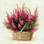 Scottish Heather Flower Cross Stitch Kit