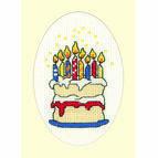 Birthday Cake Cross Stitch Card Kit