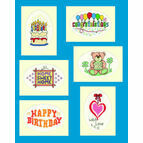 Set Of Six Cross Stitch Greeting Card Kits