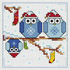 The Twitts Christmas Cross Stitch Card Kit
