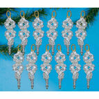 Crystal Swirl Ornaments Beading Kit (Set of 12)