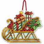 Sleigh Ornament Cross Stitch Kit