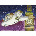 Snowman & The Snowdog Flying Past Big Ben Cross Stitch Kit
