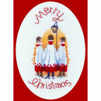Carol Singers Cross Stitch Card Kit