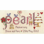 Pearl Anniversary Cross Stitch Kit