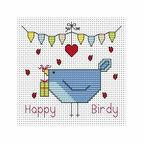 Happy Birdy Cross Stitch Card Kit