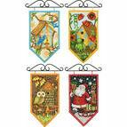 Set Of 4 Seasonal Banner Cross Stitch Kits