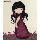 Gorjuss Pink Poppy Cross Stitch Kit