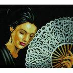 Woman With Fan Cross Stitch Kit
