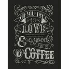All You Need Is Love Chalkboard Cross Stitch Kit