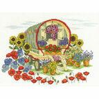 Flower Caravan Cross Stitch Kit