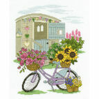 Flowery Bicycle Cross Stitch Kit