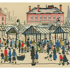 Lowry - Market Scene, Northern Town Cross Stitch Kit