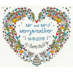 Wedding Heart Cross Stitch Kit