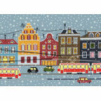 Tram Route Cross Stitch Kit