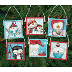 Frosty Friends Cross Stitch Ornaments Kit