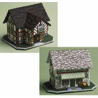 Castle Inn And The Village Shop - Set Of 2 3D Cross Stitch Kits