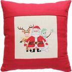 Snow Friends Cross Stitch Cushion Kit