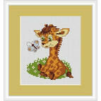Baby Giraffe Mini Cross Stitch Kit