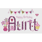 Aunt Birthday Cross Stitch Kit