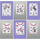 Bunny Rabbit Cross Stitch Card Kits (set of 6)