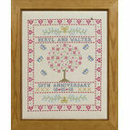 Folk Anniversary Sampler Cross Stitch Kit